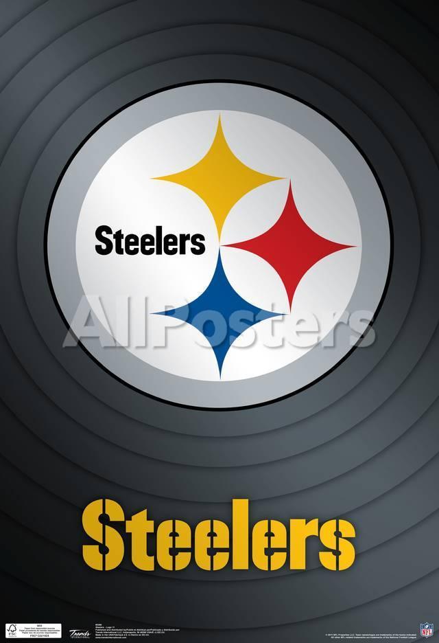 Pittsburgh Steelers Logo Nfl Sports Poster Láminas en AllPosters.es