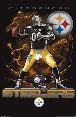 Pittsburgh Steelers Quarterback Mascot Posters at