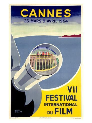 Cannes, VII Festival International du Film, 1954 Lámina giclée