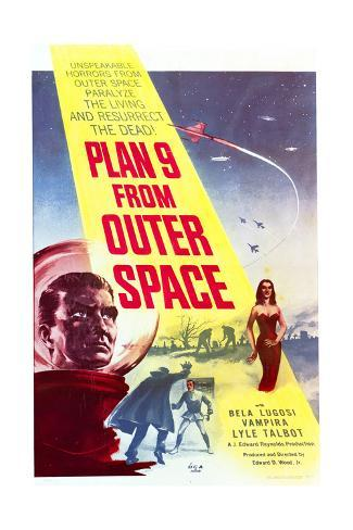 Plan 9 from Outer Space - Movie Poster Reproduction Art Print