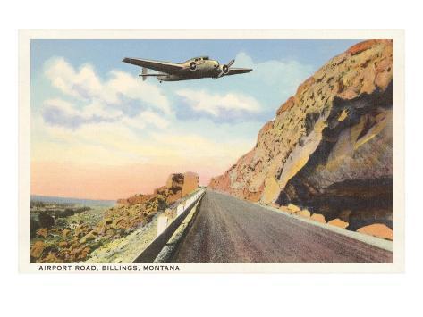 Plane over Rim Rocks, Billings, Montana Art Print