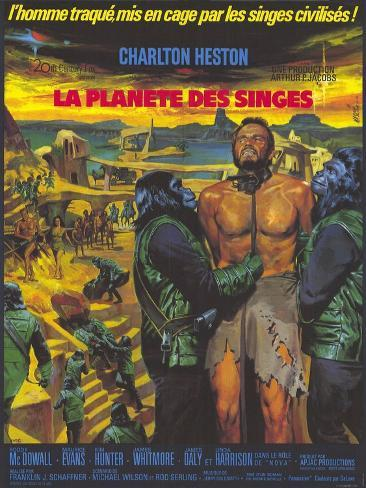 Planet of the Apes, German Movie Poster, 1968 Art Print