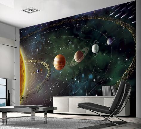 Planets Wall Mural Tapettijuliste