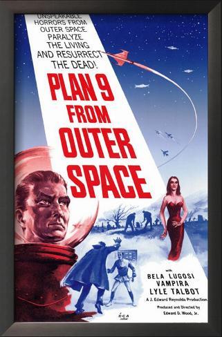 Plano 9 do Espaço Sideral Impressão artística emoldurada