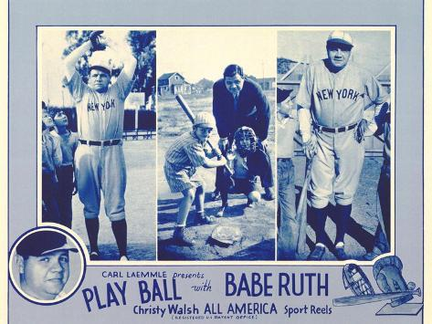 Play Ball With Babe Ruth, 1920 Art Print