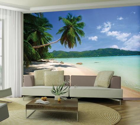 Playa tropical mural de papel pintado mural de papel - Murales papel pintado para pared ...