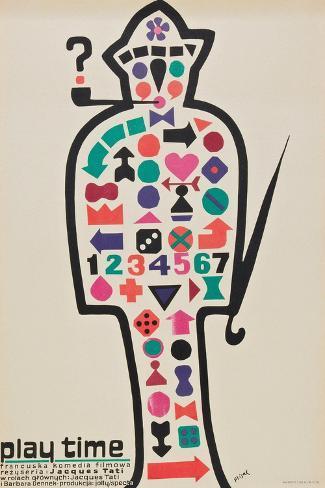 Playtime, 1967, Directed by Jacques Tati Impressão giclée