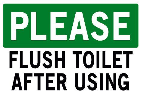 Bathroom Signs Please Flush please flush toilet sign print poster prints at allposters