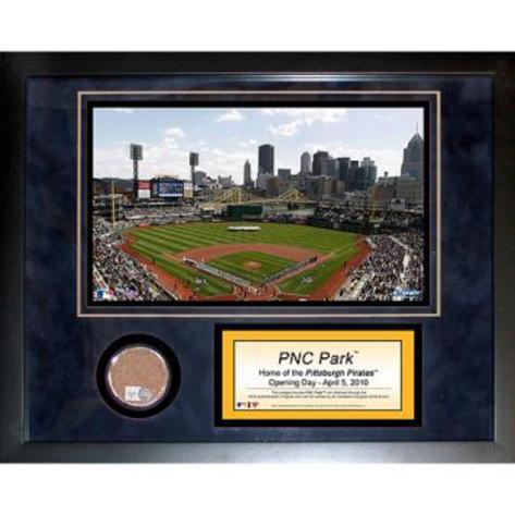 PNC Park Mini Dirt Collage Framed Memorabilia