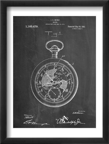 Pocket Watch Patent Framed Art Print
