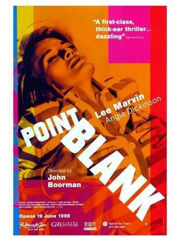 Point Blank, UK Movie Poster, 1967 Impressão artística