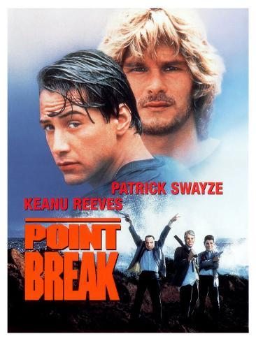 Point Break, 1991 Stretched Canvas Print