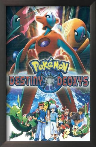 Pokemon: Destiny Deoxys Impressão artística emoldurada