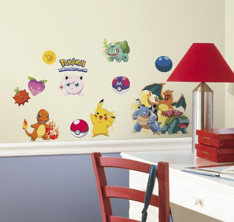 High Quality Pokemon Iconic Peel And Stick Wall Decals