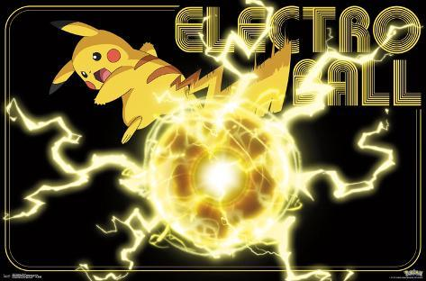 Pokemon- Pikachu Electro Ball Photo - AllPosters.ca