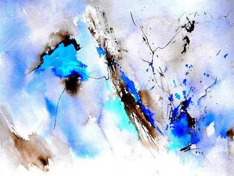 Abstract Blue 236874 Art Print