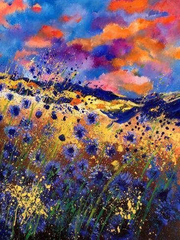 Blue Cornflowers 56 Impressão artística