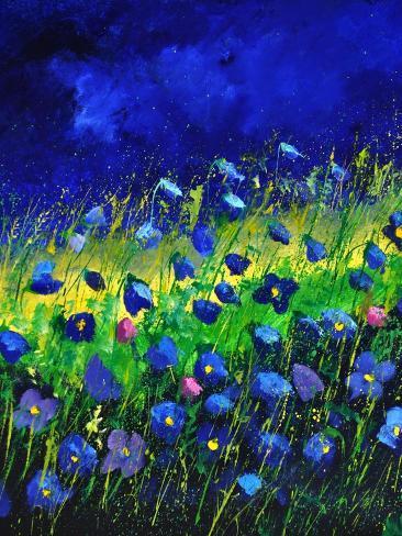 Blue Poppies 674160 Art Print