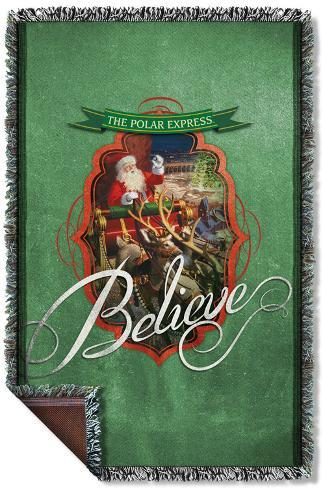 Polar Express - Santa Woven Throw Throw Blanket