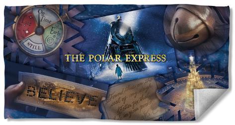Polar Express - Scene Shapes Beach Towel Beach Towel