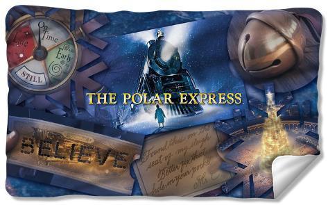 Polar Express - Scene Shapes Fleece Blanket Fleece Blanket