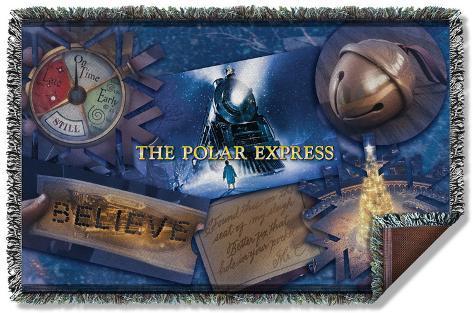 Polar Express - Scene Shapes Woven Throw Throw Blanket