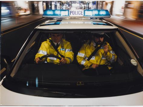 Police Car Chase 1991 Photographic Print