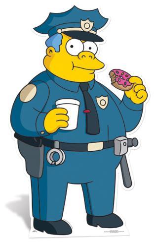 Police chief wiggam cardboard cutouts - Police simpsons ...