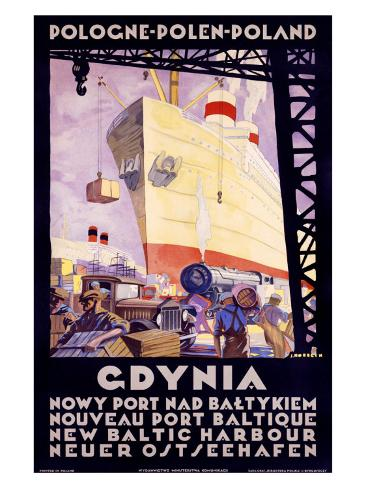 Polish Shipping Port of Gdynia Giclee Print