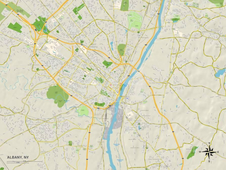 Political Map of Albany, NY Posters - AllPosters.co.uk