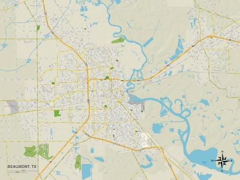 Map Of Beaumont Texas.Political Map Of Beaumont Tx Poster At Allposters Com Au
