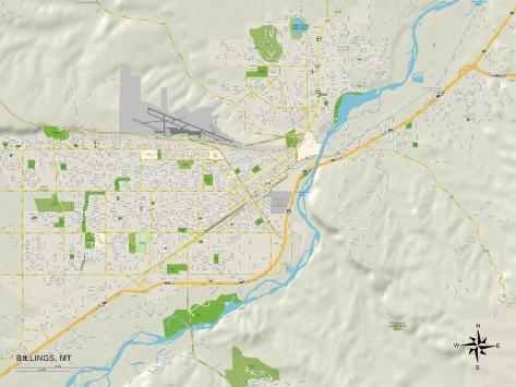 Political Map of Billings, MT Poster - AllPosters.ca