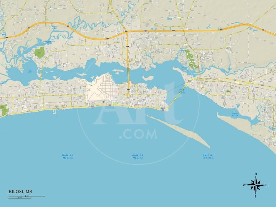 Political Map Of Biloxi Ms Posters Allposters Com