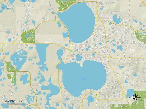 Clermont Florida Map.Political Map Of Clermont Fl Posters By Allposters Ie