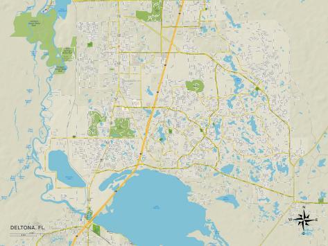 Political Map of Deltona, FL Posters - AllPosters.ca