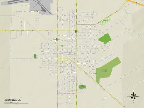 Political Map of Jennings LA Photo AllPosterscouk