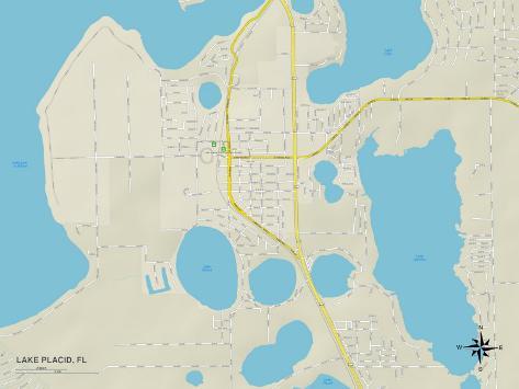 Lake Placid Florida Map.Political Map Of Lake Placid Fl Prints Allposters Ca