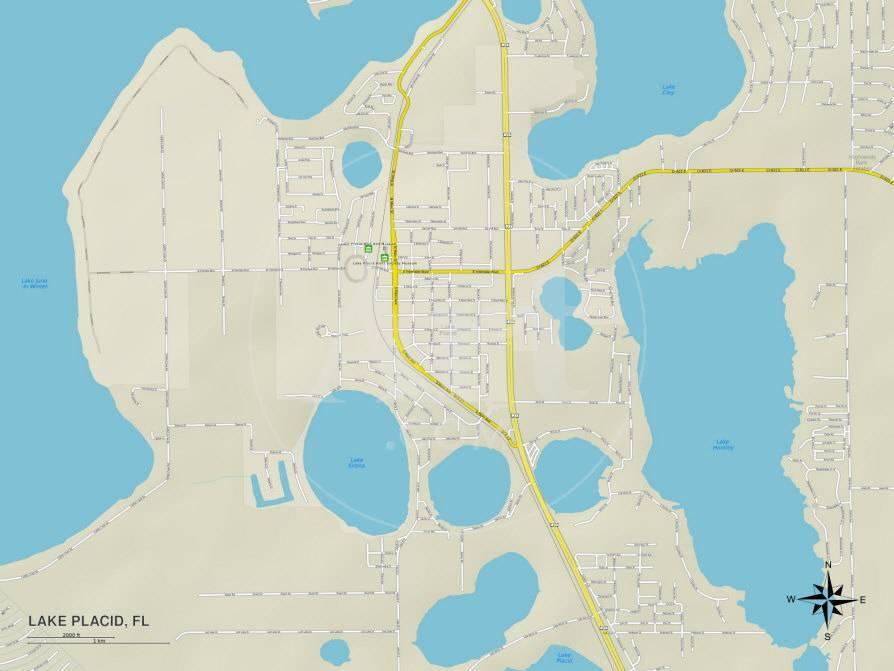 Political Map of Lake Placid, FL