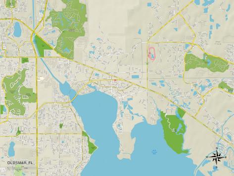 Oldsmar Florida Map.Political Map Of Oldsmar Fl Posters Allposters Co Uk