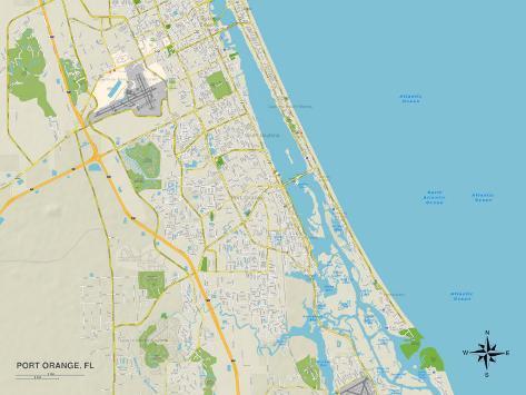 Political Map Of Port Orange Fl Prints At Allposters Com Au