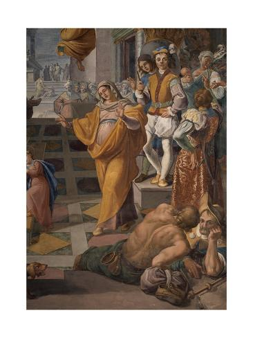 Presentation of the Virgin Mary in the Temple Stretched Canvas Print