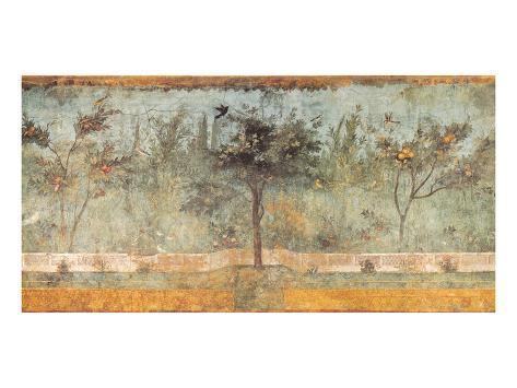 Pompeian Art, Garden Fresco I Stampa artistica