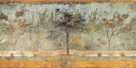 Pompeian Art, Garden Fresco I Stampa su tela