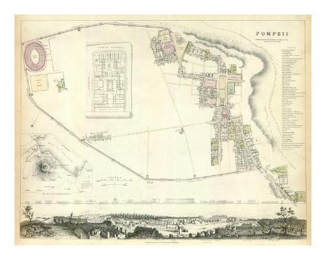 Pompeii, c.1832 Art Print