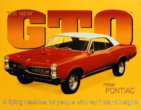 Pontiac 1967 GTO Tin Sign