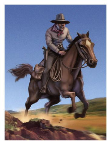 Pony Express Rider Stampa artistica