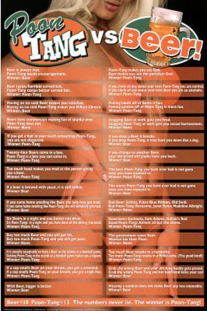Poon Tang Vs Beer Art Print Poster Print At Allposters Com