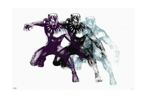 Pop Black Panther Art Print