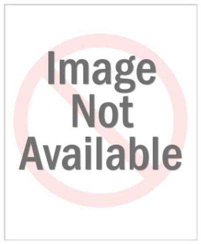 Dark Haired Woman Wearing Glasses Stampa giclée premium