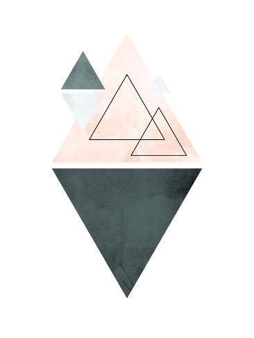 geometric art 37 giclee print by pop monica at allposters com